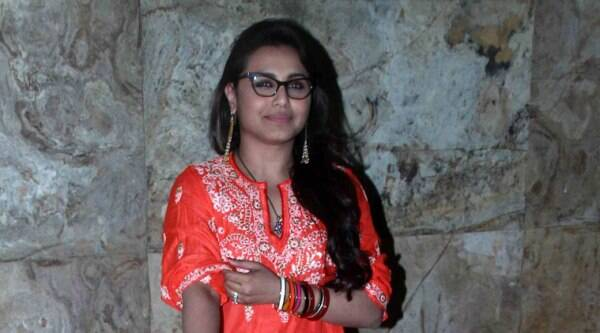 """Actress Rani Mukerji, who is seen as a police officer who bashes up men in her latest outing """"Mardaani"""", says the film's aim is to spread awareness about human trafficking and not to demonize any particular gender. (Source: Varinder Chawla)"""