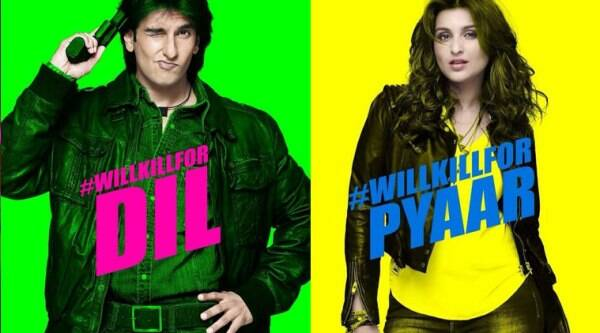 Ranveer is wearing a denim shirt teamed with leather jacket and looks like the macho man of the 90s. The poster says, #WillKillForDil