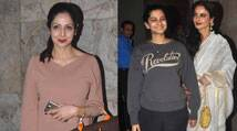 Rekha, Sridevi at special screening of Sonam Kapoor's 'Khoobsurat'
