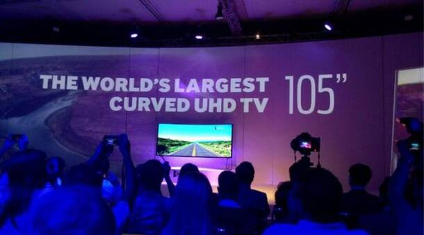 Samsung curved 105-inch UHD TV