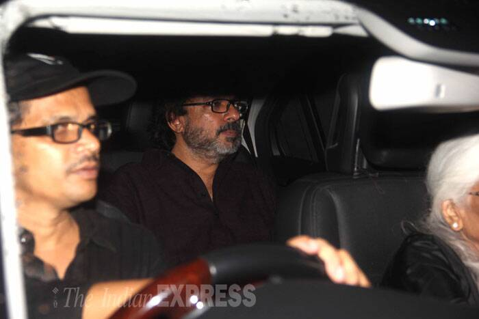 Film's producer Sanjay Leela Bhansali also made it to the screening. (Source: Varinder Chawla)