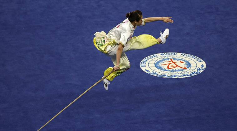 Vietnam's Duong Thuy Vi competes in the women's qiangshu final during the wushu competition at the Ganghwa Dolmens Gymnasium. (Source: Reuters)