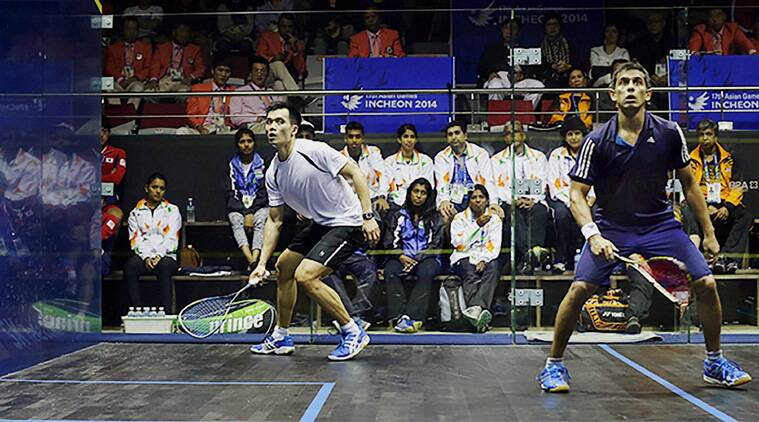India's Saurav Ghosal and Malaysia's Ong Beng Hee during men's individual semifianl event at the 17th Asian Games at Yeorumul Squash courts in Incheon (Source: PTI)