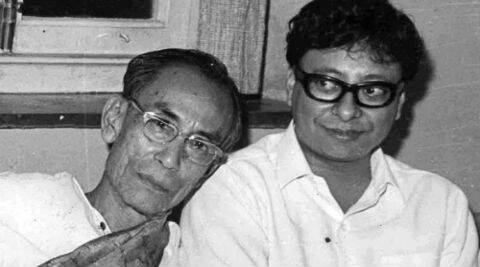 S D Burman pictured here with his son R D Burman.