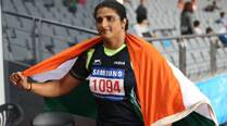 Seema bags discus throw gold; steeplechase bronze for Naveen