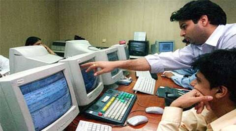 Sensex today fell 244.48 points to end at 26,816.56 and Nifty slid 63.50 points to 8,042. (Reuters)