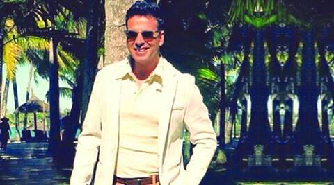 Akshay Kumar amidst the tall palms in The Shaukeens