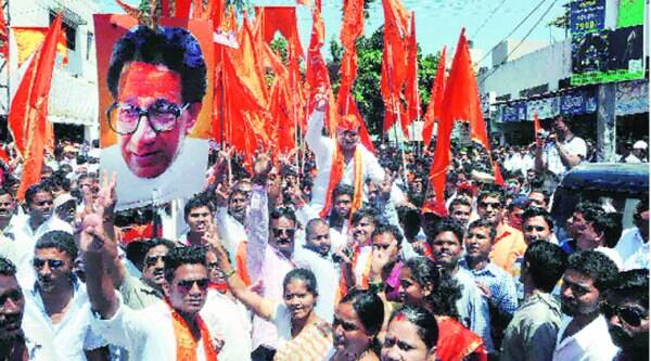 Ex-NCP corporator Sunil Tingre who switched to Shiv Sena (Source: Express photo by Sandeep Daundkar)