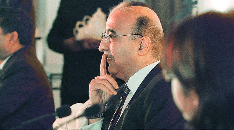Pakistan High Commissioner to India Abdul Basit in new delhi on monday. ( Source: Express photo by Anil Sharma )