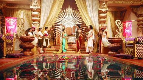 A still from the show Singhasan Battisi featuring Raja Bhoj's palace