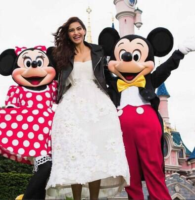 Sonam Kapoor's Disneyland trip