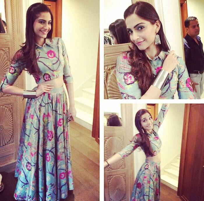 'Raanjhanaa' actress also wore a Payal Singhal for one of the promotional events.
