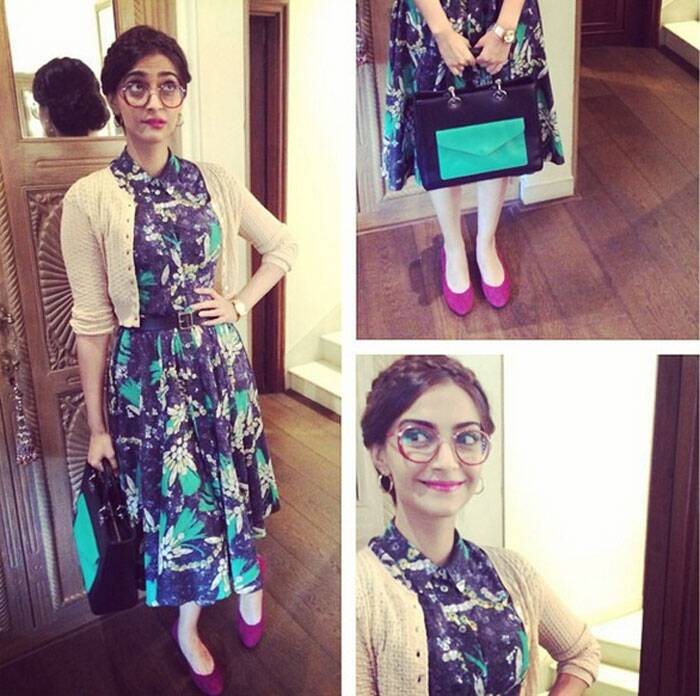 Sonam's another geek look.