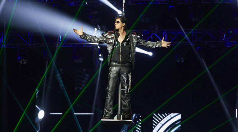 Shah Rukh Khan in a still from his performance in Houston.