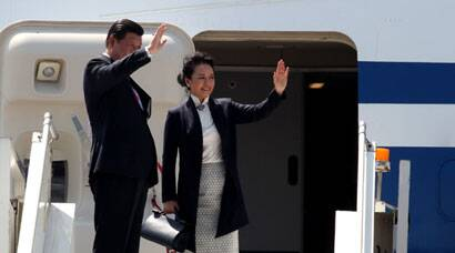 Xi Jinping flies back home