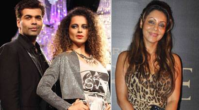 Kangana Ranaut on the ramp for Karan Johar, Gauri Khan off it