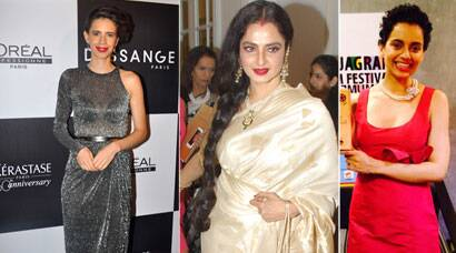 Kalki's 'sheer' presence, Rekha shines in gold