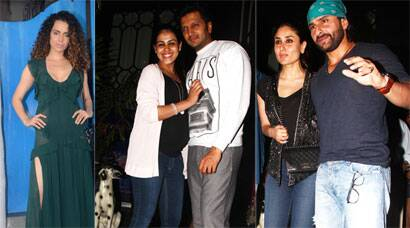 Couples Saif-Kareena, Riteish-Genelia, solo Kangana enjoy night out