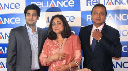 Jai Anmol Ambani with parents Anil and Tina at ADAG meet