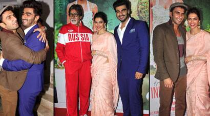 PHOTOS: Deepika Padukone's beau Ranveer Singh and Amitabh Bachchan watch 'Finding Fanny'