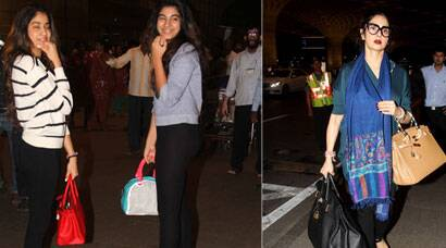 Sridevi, daughters Jhanvi and Khushi jet out of town