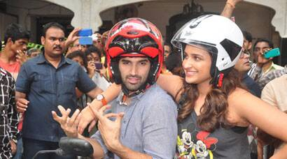 Parineeti Chopra, Aditya Roy Kapur's Royal Enfield ride