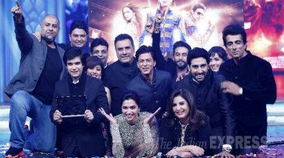 PHOTOS: Shah Rukh, Deepika, Abhishek launch 'Happy New Year' music with Farah Khan