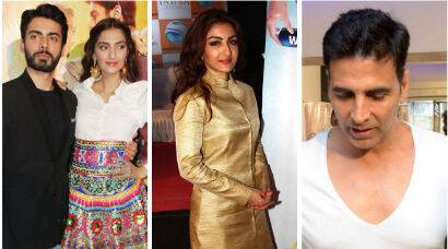 Star spotting: Sonam, Fawad in Delhi; Soha, Arjun, Akshay step out