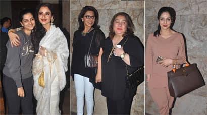 Rekha, Sridevi, Neetu Singh watch Sonam Kapoor's 'Khoobsurat'