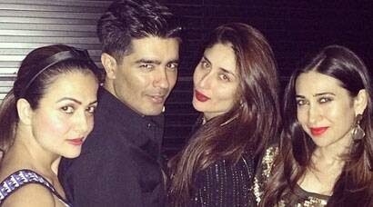 Manish Malhotra's night out with Kapoor sisters Karisma, Kareena in Dubai