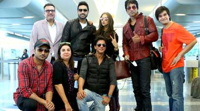 Shah Rukh, Deepika, Abhishek launch 'Happy New Year' music with Farah Khan