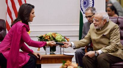 Narendra Modi gets Gita as gift from US lawmaker Tulsi Gabbard