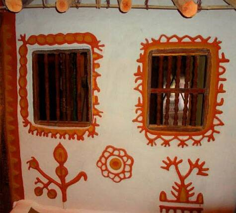 Tribal home depicted at the museum (Source: Swasti Pachauri)