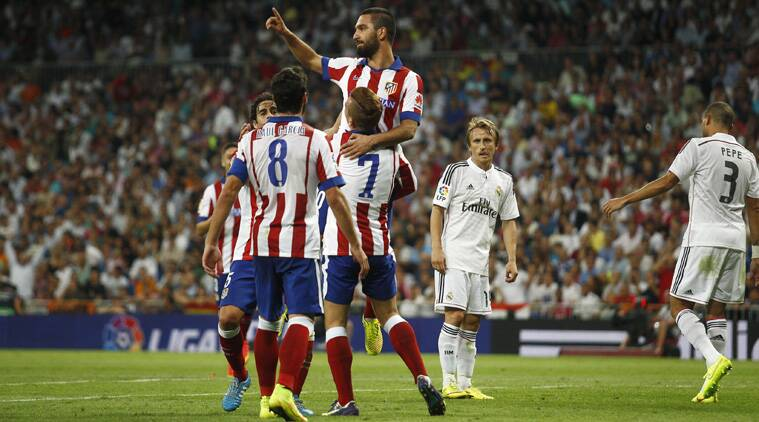 Arda Turan scored the winning goal in the Madrid derby. (Source: AP)