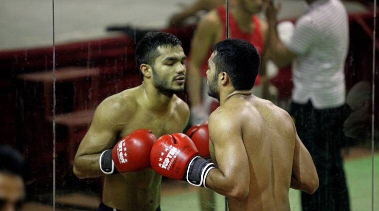 Vikas Krishan Yadav still hasn't recovered from the heartbreak he suffered two years ago at London's ExCel Arena (Source: Express Photo by Kamleshwar Singh)