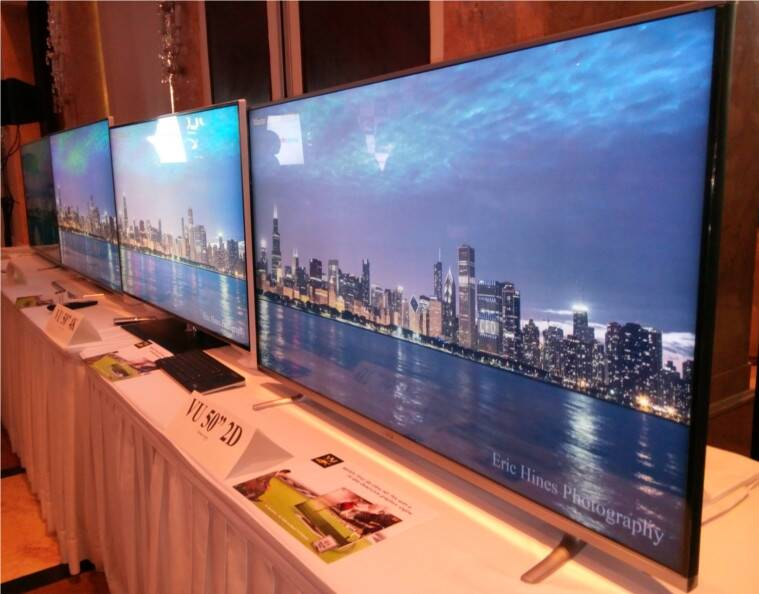 Vu Televisions, Vu tv brand, CES 2016, CES 2016 news, Devita Saraf, Android TVs, cheap android, latest smart TV, Cheap and best smart TV, latest Vu TVs, Vu Iconium, Vu Play, televisions, technology news