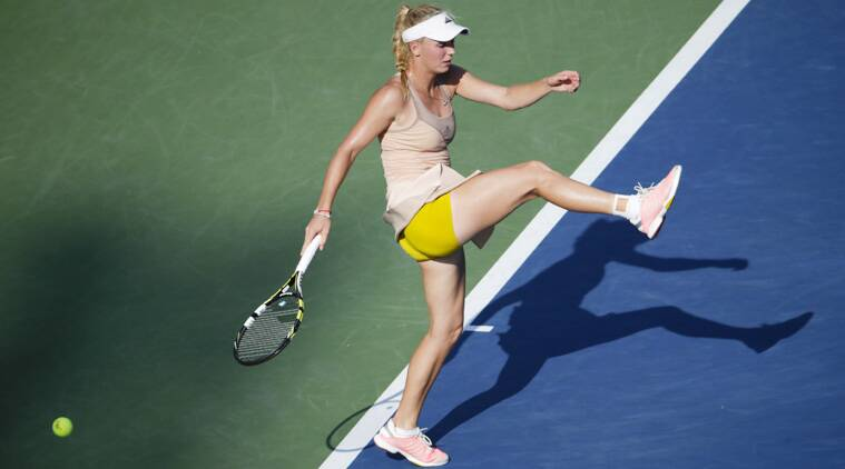 Wozniacki advanced to the finals after Peng Shuai broke down due to heat-related illness and retired in the second set, trailing 7-6(1), 4-3. (Source: AP)
