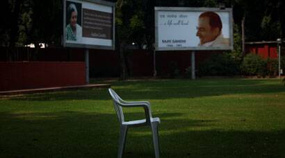 After poll rout, party offices of Congress, NCP and INLD wear a deserted look