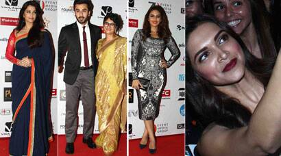 Aishwarya, Deepika, Ranbir light up Mumbai Film Festival