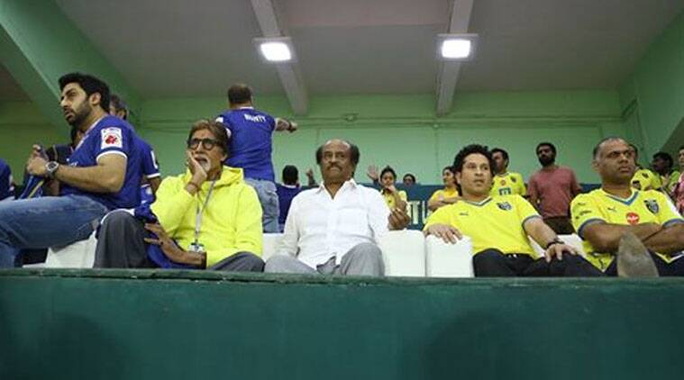 """WE WON ...!! Thank you Chennai... you were marvellous! And the team excellent! Thank you Rajnikanth for coming to cheer our team,"" Amitabh  Bachchan tweeted. (Source: Facebook by Amitabh Bachchan)"