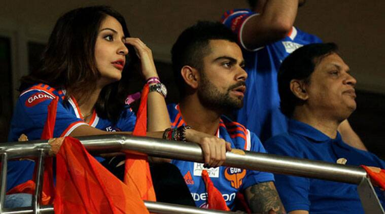 The young couple was seen enjoying the ISL match on Sunday (October 26), though Virat's team was losing and he was visibly perturbed. But much to his respite, there was Anushka giving him company at the stands. (Source: ISL)
