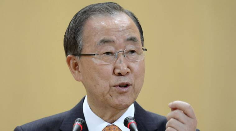 UN chief Ban Ki-moon urged Israel and the Palestinians on Tuesday to move away from unilateral actions.
