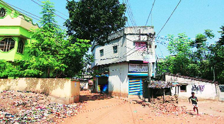 The house at Khagragarh in Burdwan town where the bomb went off on October 2
