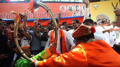 Maharashtra, Haryana Assembly Poll Results: BJP workers begin celebrations