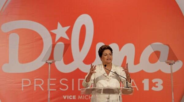 Brazil's President Dilma Rousseff, presidential candidate for re-election of the Workers Party, PT, talks about the results of the general elections during a press conference, in Brasilia, Brazil, Sunday, Oct. 5, 2014.(Source: AP)