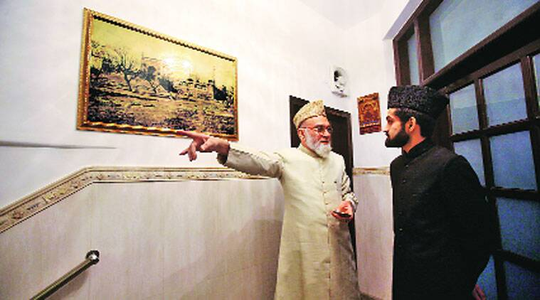 Shaban with his father Imam Bukhari in New Delhi.