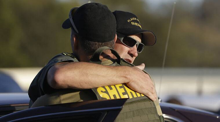 """A suspect described as a """"one-man crime spree"""" is accused of shooting three Northern California sheriff's deputies, killing two of them."""