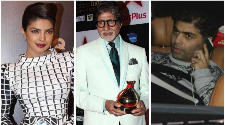 Bollywood celebrities wished Amitabh Bachchan the best of health on his 72nd birthday Saturday.