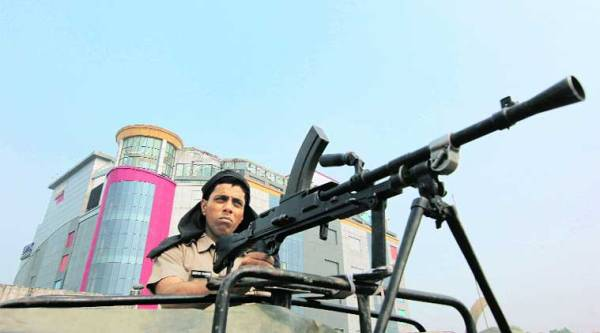 Security beefed up for PM's visit in Panchkula on Saturday. (Jaipal Singh)