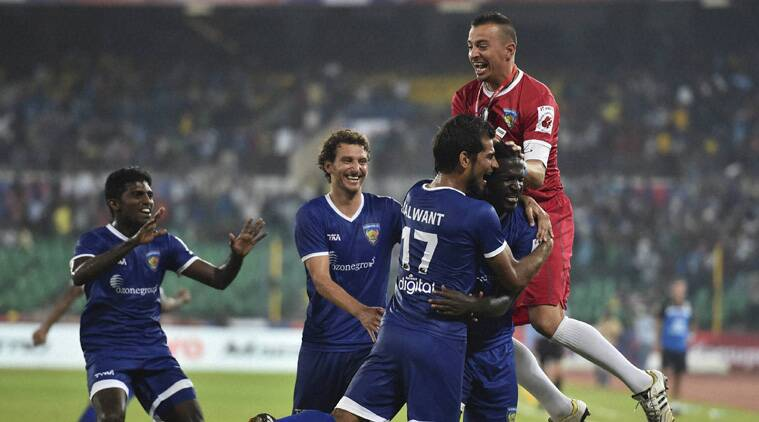 It was a game that was dominated by the Chennai team playing in their navy blue jerseys. (Source: PTI)